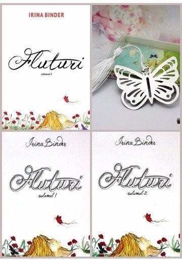 Pachet FLUTURI Irina Binder - Set 3 Volume + Semn de carte Fluturi