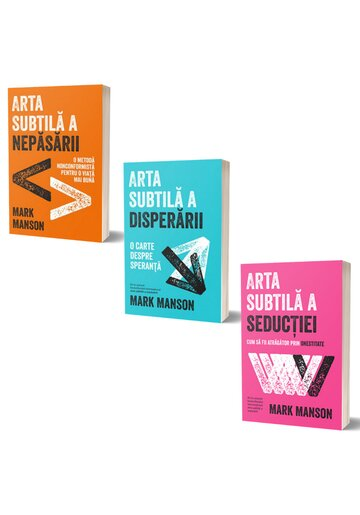 Pachet Mark Manson. Set 3 volume