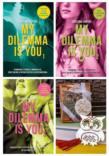 Pachet My Dilemma is You - 3 Volume + Semn de carte metalic Bufnita