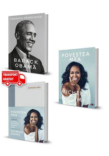 Pachet Obama. Set 3 carti. Pamantul fagaduintei, Povestea mea si Jurnal