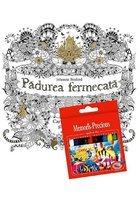 Pachet Padurea Fermecata + Set 12 Creioane colorate