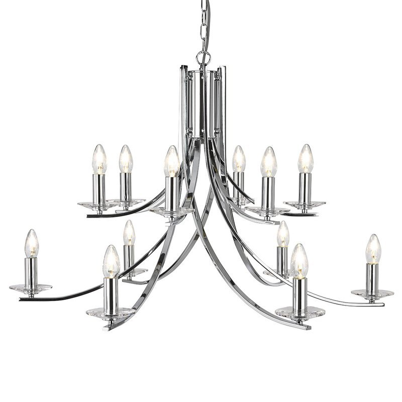 Candelabru Searchlight Ascona Chrome