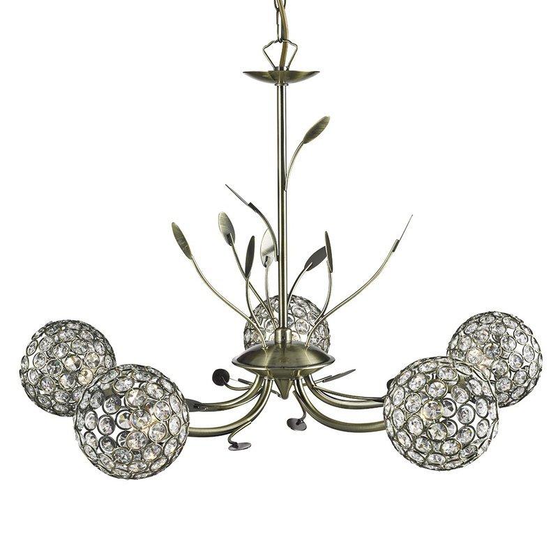 Candelabru Searchlight Bellis Brass V