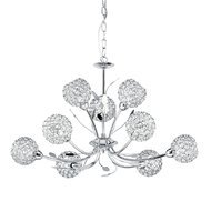 Candelabru Searchlight Bellis Chrome IX