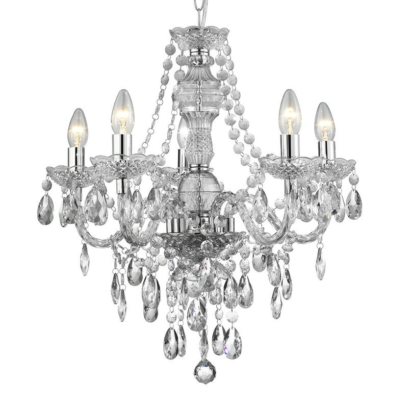 Candelabru Searchlight Marie Therese Glass M