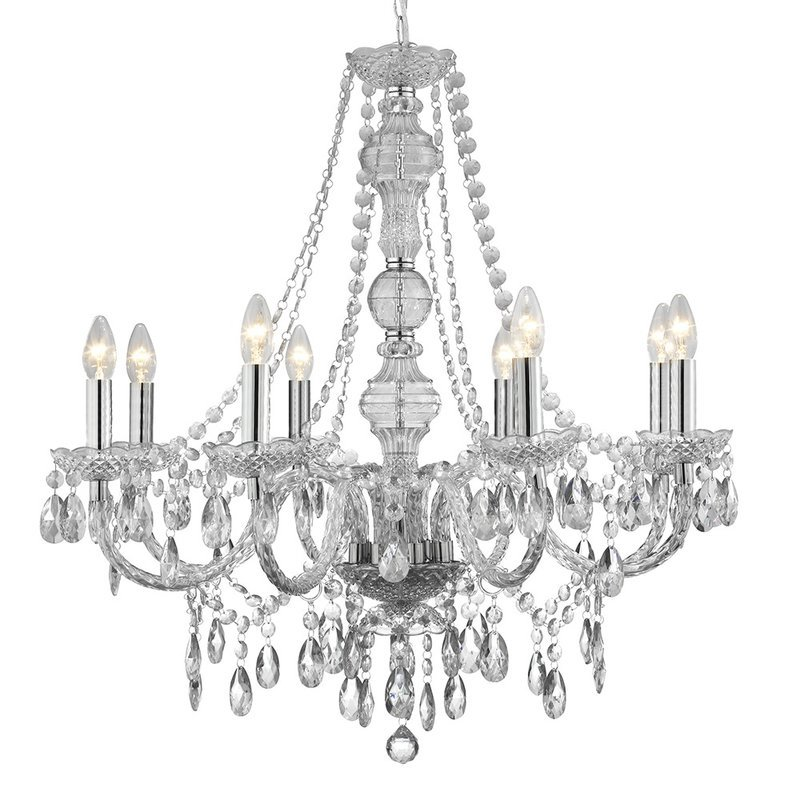 Candelabru Searchlight Marie Therese Glass L