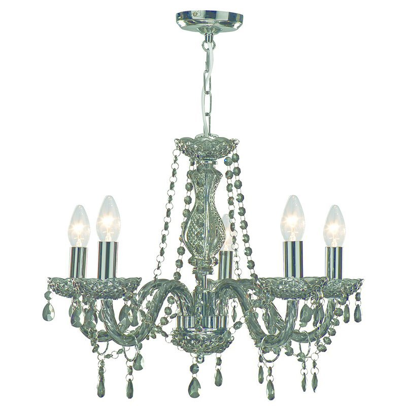 Candelabru Searchlight Marie Therese Smoked M