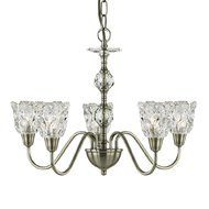 Candelabru Searchlight Monarch Glass V