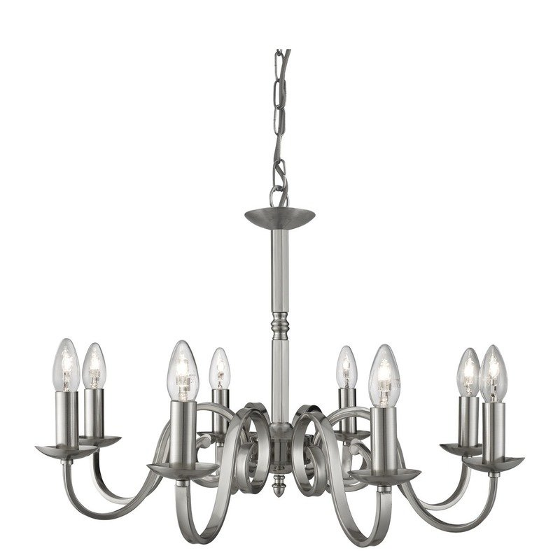 Candelabru Searchlight Richmond Silver VIII