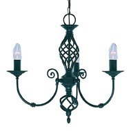 Candelabru Searchlight Zanzibar Black III