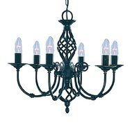 Candelabru Searchlight Zanzibar Black VI