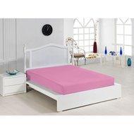 Cearceaf cu elastic roz 160x200