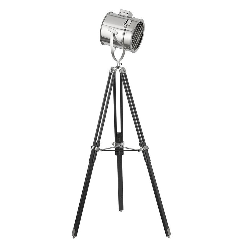 Lampadar Searchlight Floor Tripod Black