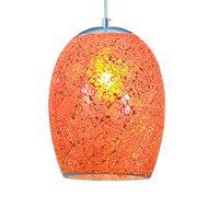 Pendul Searchlight Crackle Orange Mosaic