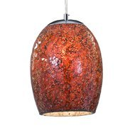 Pendul Searchlight Crackle Red Mosaic