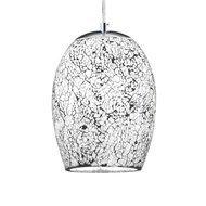 Pendul Searchlight Crackle White Mosaic
