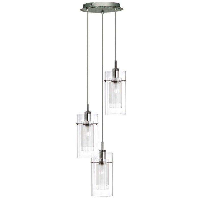 Pendul Searchlight Duo Clear III Round
