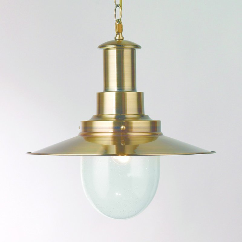 Pendul Searchlight Fisherman Bronze L