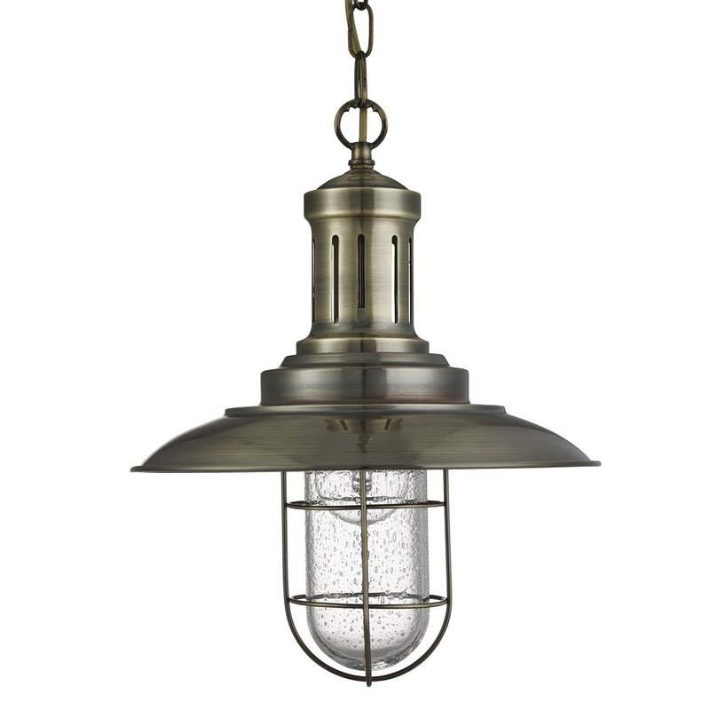 Pendul Searchlight Fisherman Cage Brass