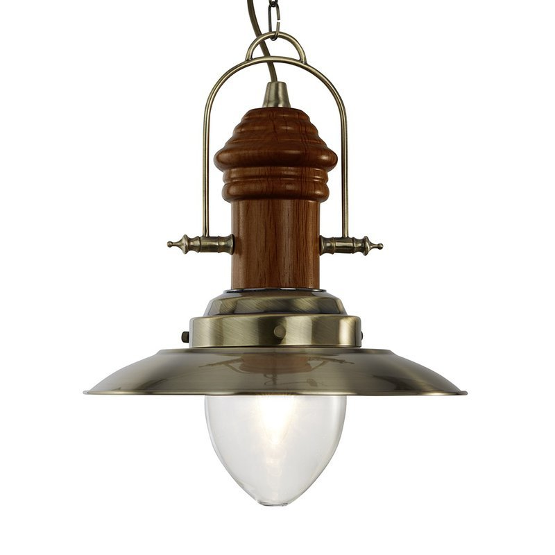 Pendul Searchlight Fisherman Wood M