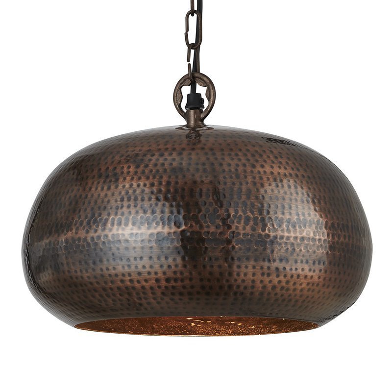 Pendul Searchlight Hammered Bowl Bronze M
