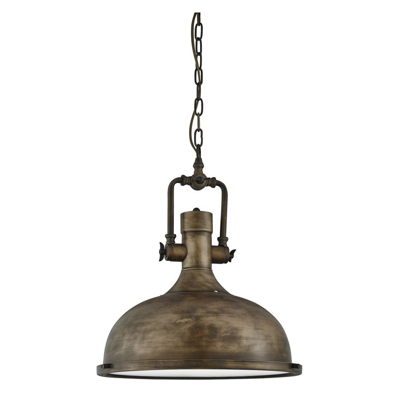 Pendul Searchlight Industrial Pendant Black Gold