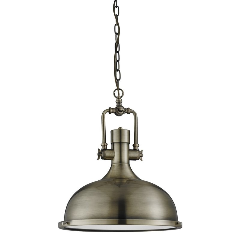 Pendul Searchlight Industrial Pendant Brass