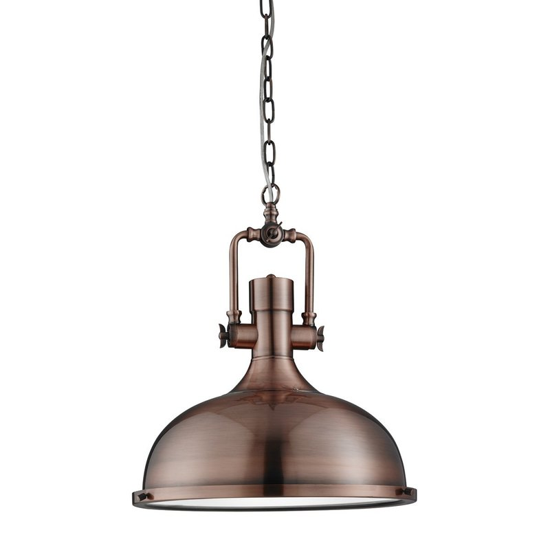 Pendul Searchlight Industrial Pendant Copper
