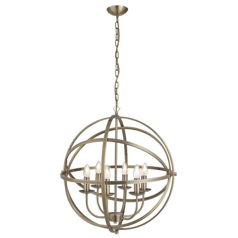 Pendul Searchlight Orbit Brass VI