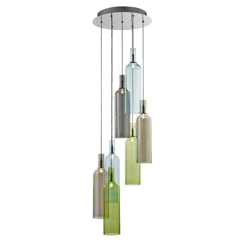 Pendul Searchlight Vibrant Glass