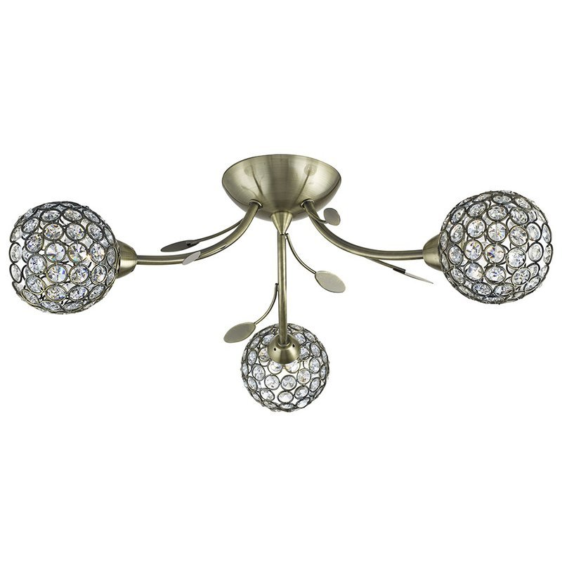 Plafoniera Searchlight Bellis Brass III