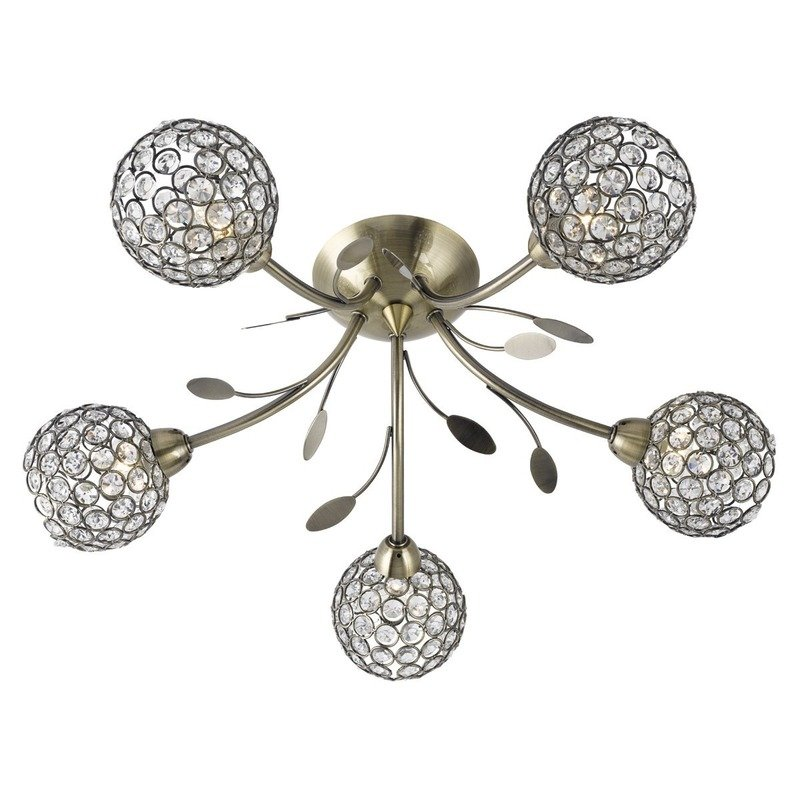 Plafoniera Searchlight Bellis Brass V