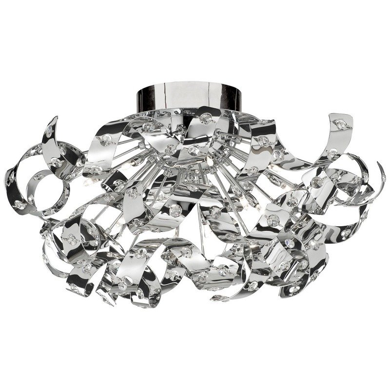 Plafoniera Searchlight Curls Chrome