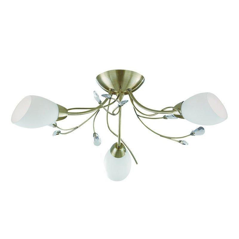 Plafoniera Searchlight Gardenia Brass III