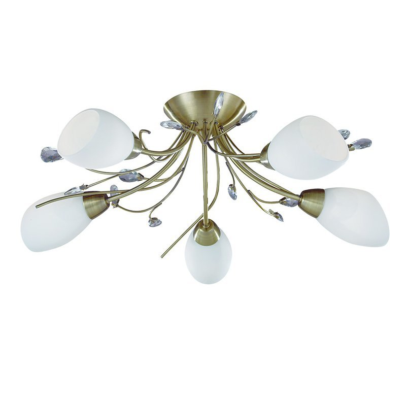 Plafoniera Searchlight Gardenia Brass V