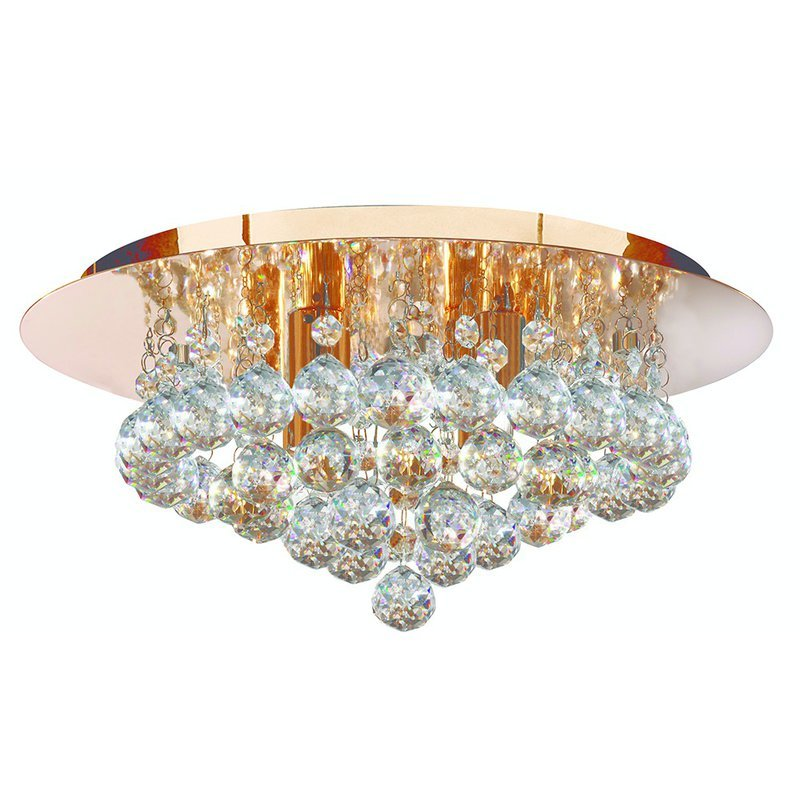 Plafoniera Searchlight Hanna Gold S