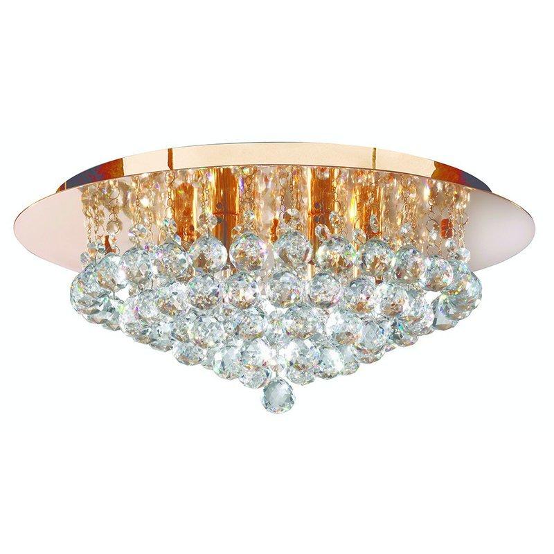 Plafoniera Searchlight Hanna Gold M