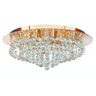 Plafoniera Searchlight Hanna Gold L