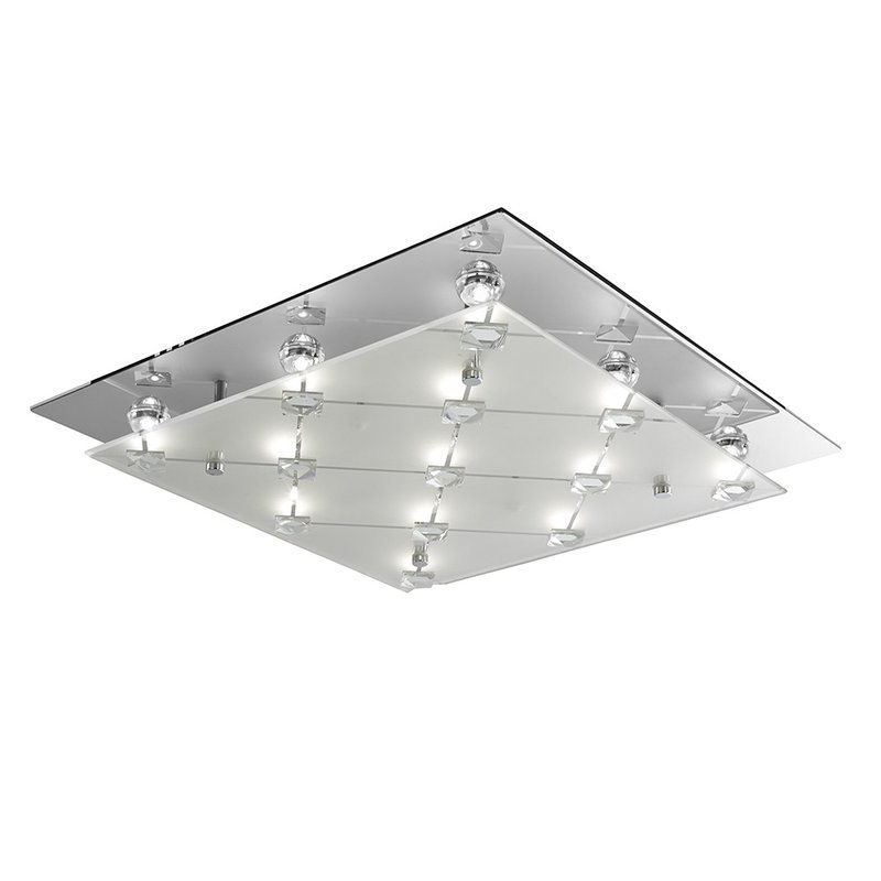 Plafoniera Searchlight LED Flush Chrome