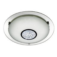 Plafoniera Searchlight LED Flush Crystal S