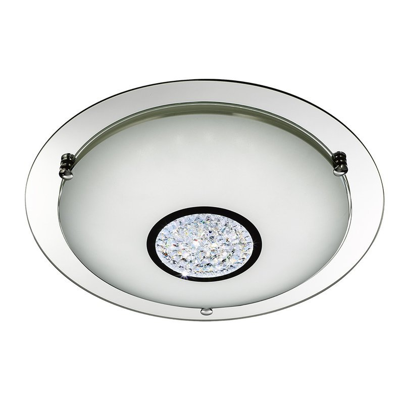 Plafoniera Searchlight LED Flush Crystal L