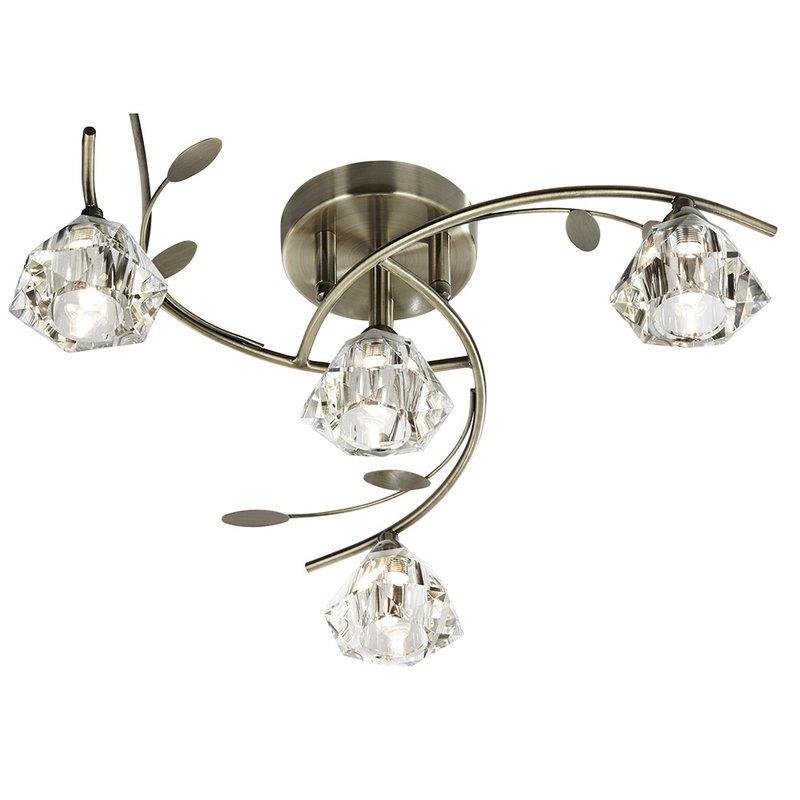 Plafoniera Searchlight Sierra Brass IV