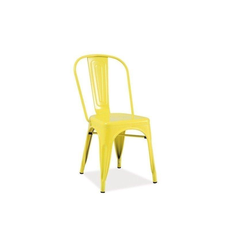 Scaun metalic Loft Yellow