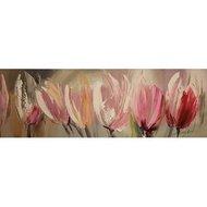 Tablou pictat manual Beauty, 40x120cm