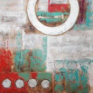 Tablou pictat manual Fistic, 60x60cm