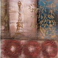 Tablou pictat manual La Parisienne, 40x40cm