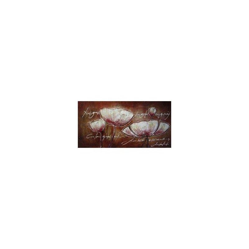 Tablou pictat manual Liniste inocenta, 60x120cm