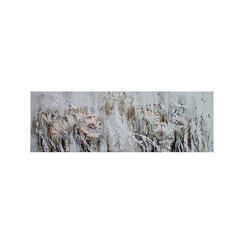 Tablou pictat manual Secret Garden, 50x150cm