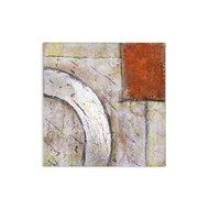 Tablou pictat manual Secret Space, 40x40cm