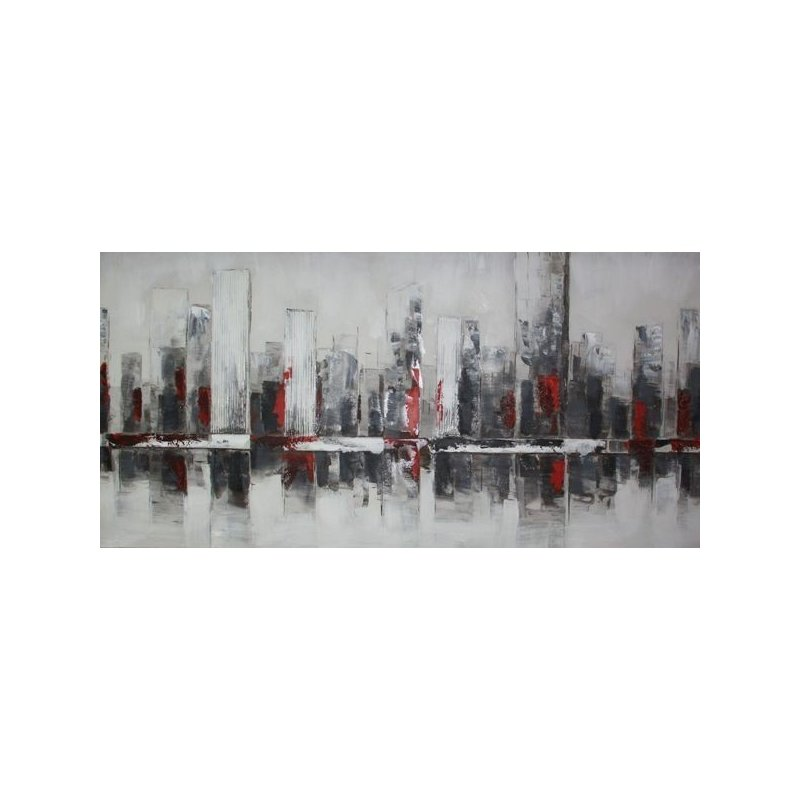 Tablou pictat manual Towers, 60x120cm
